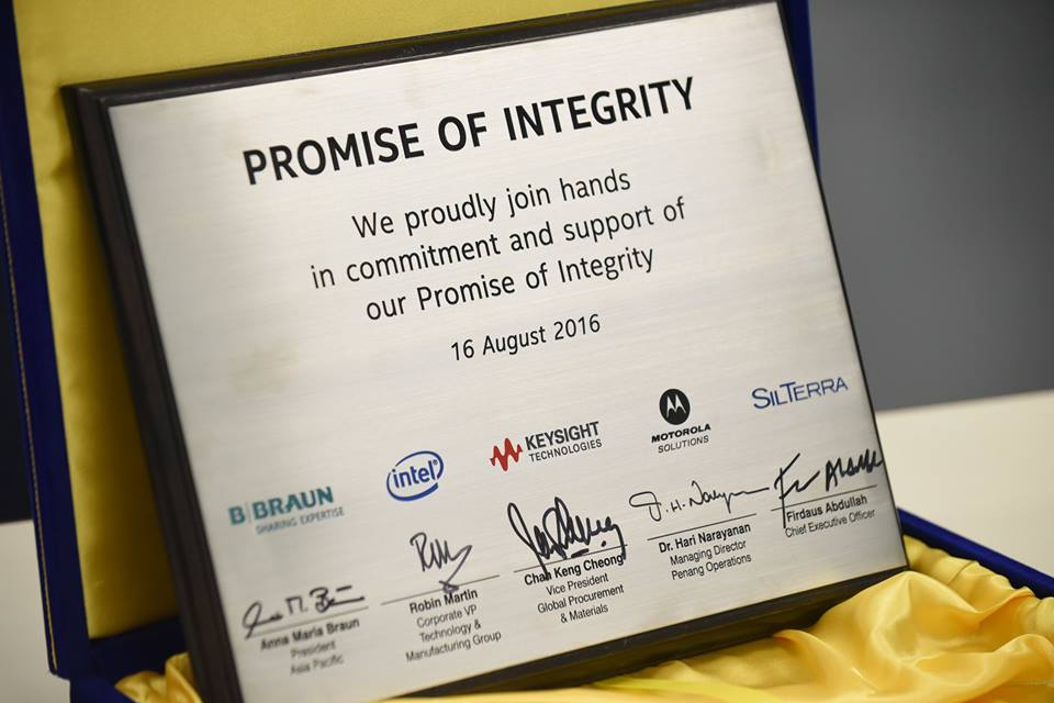 PROMISE OF INTEGRITY NEWSLETTER VOL 1 – AUGUST 16, 2016